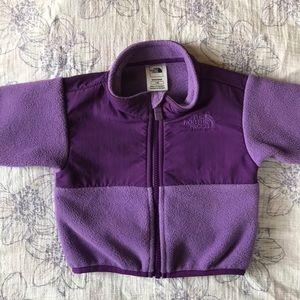 North face purple fleece 3-6M EUC